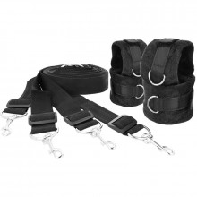 DARKNESS INTERLACE OVER AND UNDER BED RESTRAINT SET