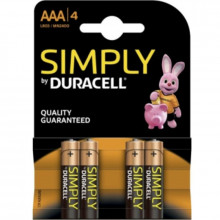 BATTERIA DURACELL SEMPLICEMENTE ALCALINA AAA LR03 / MN2400 4UD